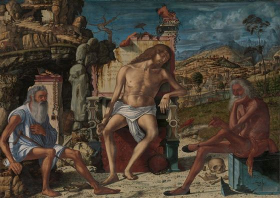 Carpaccio, Vittore: The Meditation on the Passion. Biblical/Religious Fine Art Print/Poster. Sizes: A4/A3/A2/A1 (00225)